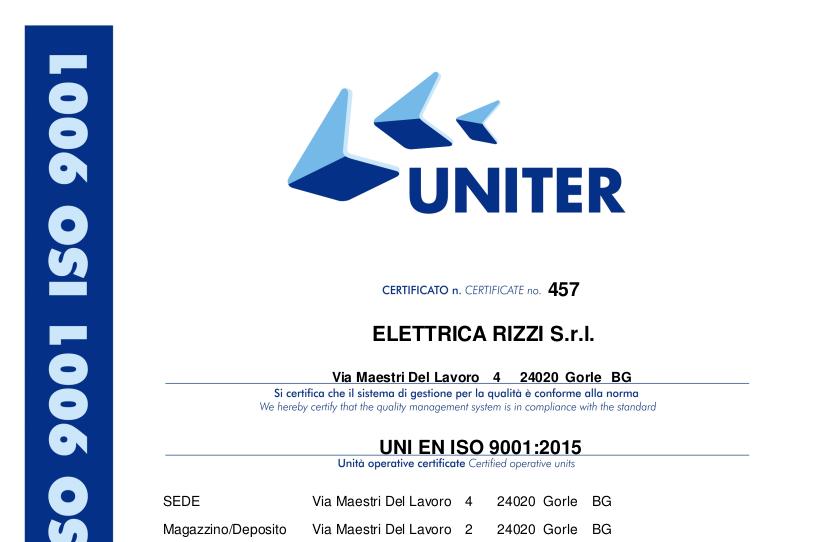 Certificato UNI EN ISO 9001_2015